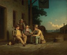 20. Corpi repubblicani ideali, 1852. George Caleb Bingham, Canvassing for a Vote (1851-52). Nelson-Atkins Museum of Art, Kansas City, Missouri.